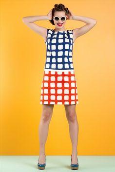 Sabra Ekru İndigo Elbise
