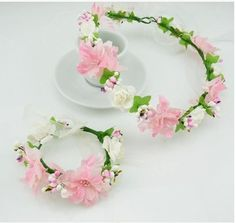Find More Apparel & Accessories Information about 6pcs/lot Handmade Woman Girls Hair Accessories Fabric Flower Garland Wedding Party Bride Bridesmaid headband tiara Wrist flower,High Quality Apparel & Accessories from Hair's Art Online Wholesale Store on Aliexpress.com