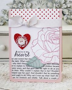 In My Heart Rose Card by Melissa Phillips for Papertrey Ink (February 2013)