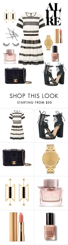 """""""💃🏼"""" by holychicro ❤ liked on Polyvore featuring MICHAEL Michael Kors, Lust For Life, Chanel, Nixon, Natama Design, Burberry, Axiology, Bobbi Brown Cosmetics and Velour Lashes"""