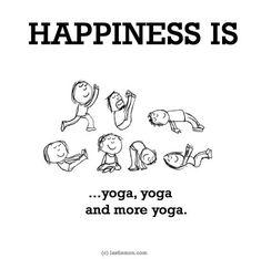 HAPPINESS IS...yoga