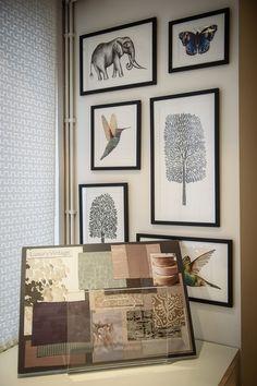Original Amazilia artwork displayed at the Harlequin showroom in London Artwork Display, Tropical Design, Home Jobs, Fabric Wallpaper, Soft Furnishings, Showroom, Photo Wall, London, Luxury