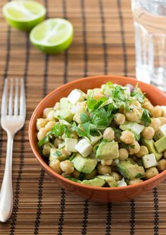 Avocado chickpea salad in just 5 minutes!