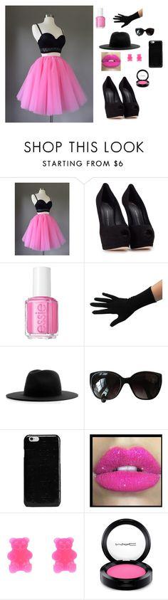 """Untitled #21"" by autumn-geist on Polyvore featuring Giuseppe Zanotti, Essie, Études, Chanel, Maison Margiela, Glitter Pink and MAC Cosmetics"