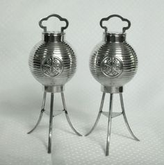Japanese 950 Sterling Lantern Salt and Pepper
