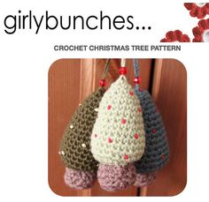 Girlybunches  Crochet Christmas Tree PDF Pattern  by girlybunches, $4.00
