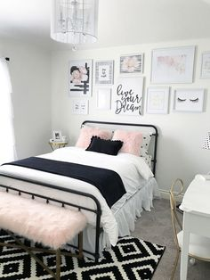 Bedroom Decor For Teenage Girls Blush Pink - Black And Blush Pink Girls Room Decor Great Teenager Girls Room Pin On Teen Girl Bedrooms Pin On Kilyn Teenage Girl Room Decor Ideas In Pink Copper Bl. Pink Girl Room, Room Inspiration, Bedroom Decor, Room Makeover, Small Room Bedroom, Pink Girl Room Decor, Bedroom Design, Small Bedroom, Trendy Bedroom