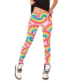 Women's 1980s Rainbow Stretcy Leggings. Ideal for My Little Pony, Unicorns theme.