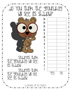Good quality, and FREE, printables for Groundhog Day and much more.