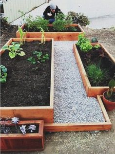 wood trim and planter box