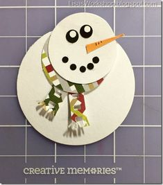CM Holiday Blog Hop!! Snowman with Creative Memories Products www.creativememories.com/user/CandaceBouldin