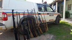 Operação da PM apreende 21 armas de fogo na zona rural de Januária no Norte de Minas