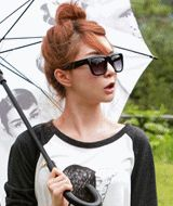 preppy plastic frame smokescreen sunglasses  CODE: QN23006  Price: SG $40.30 (approx US $32.50)