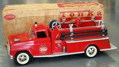 1963 TONKA No. 926 Suburban Pumper Fire Truck IN BOX - Fire Engine #Tonka