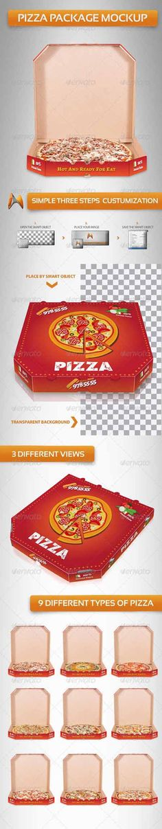 Pizza Package Mockup Templates » Free Hero Graphic Design: Vectors AEP Projects PSD Sources Web Templates – HeroGFX.com