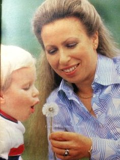 Princess Royal Anne and son, Peter Phillips. 1981