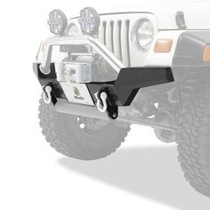 Bestop HighRock High Access Front Bumper with D-Ring Mount - Matte Black Jeep Wrangler Bumpers, 2006 Jeep Wrangler, Matte Black, 4x4, Monster Trucks, Ring, Rings, Jewelry Rings