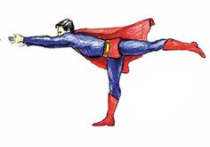 Warrior III by Diane Wat: 'Adamantine® Yoga is a spiritual discipline that offers a simple and empowering means of discovering the heroic qualities within each of us.' http://adamantineyoga.com/ #Yoga #adamantineyoga #Superman