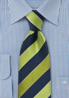 Krawatte Streifen blau grün