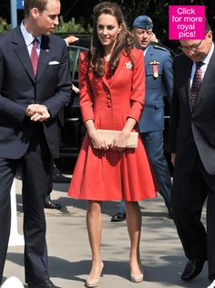 Princess Kate Sizzles In Scarlet Dress As She Bids 'Adieu' To ...