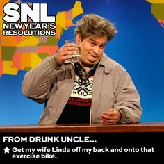 Happy New Year, Drunk Uncle! #SNLResolutions