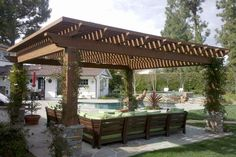 Read here to compare all pergola roof options including retractable canopies, louvered panels, and tensioned fabrics.