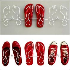 great way to display shoes...