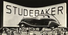 For the 1933-34 Chicago Century of Progress fair,  Studebaker hatched the idea of building an 80 foot long, 28 foot high, 30 foot wide version of their newest and most luxurious model, the President Land Cruiser. The running boards alone were 21 feet long, the wipers three and the tires measured 12-1/2 feet tall.