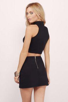 Just Zip It Mini Skirt