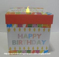 Judy's Handmade Creations: Light Up Birthday Gift Box Idea !
