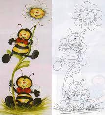 Resultado de imagen para pintura de abelhinha em tecido