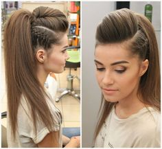 Summer Pony Tail with Side Cut & Braided Ideas