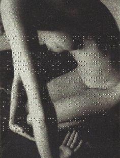 Léon Ferrari, Union Libre, 2004 (poem by André Breton embossed in Braille on a photograph) •