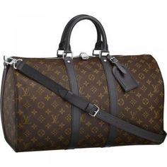 8f5d5321685 Louis Vuitton M56711 Keepall 45 With Shoulder Strap Brown Authentic Louis  Vuitton