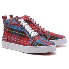 Christian Louboutin Louis TarTaupe High Top Baskets Rouge 93,99 €