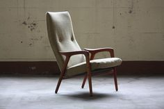 Swedish Midcentury Modern Yngve Ekstrom Mingo Chair for Swedese (Sweden, 1960s)