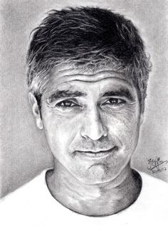 Pencil Portrait of George Clooney by ~chaseroflight on deviantART