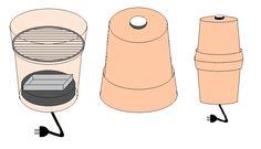 Räucherofen aus Tontöpfen bauen