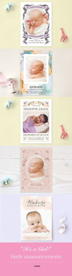 It's a Girl! Birth announcements from Minted.