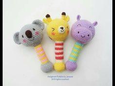 Sonajeros Tejidos a Crochet Para Bebe -  Parte 1 - YouTube