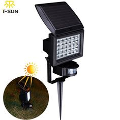 PIR 30 Outdoor Lighting Solar Lamp LED SpotLight Waterproof Wireless Powered Wall Light Motion Sensor Garden LED Flood Light driveway DIY ** AliExpress Affiliate's Pin.  Offer can be found online by clicking the VISIT button