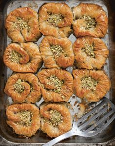 Sweet Pistachio Nests Recipe From Istanbul By Rebecca Seal Cooked Lebanese Desserts, Lebanese Recipes, Turkish Recipes, Greek Desserts, Middle Eastern Desserts, Arabic Food, Cheesecakes, Sweet Recipes, Delicious Desserts