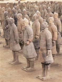 chinese antique army horses in clay - Google Search