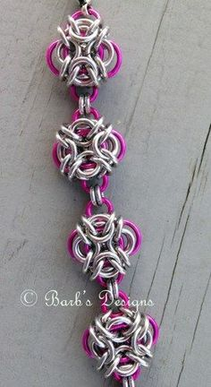Chainmaille Knot Bracelet Pink For Breast Cancer Awareness Jump Ring Jewelry, Metal Jewelry, Beaded Jewelry, Jewellery, Girls Jewelry, Women Jewelry, Chainmaille Bracelet, Beads And Wire, Cancer Awareness
