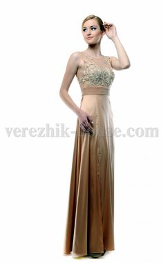 Exquisite evening dress..................... Material: 49% viscose,ю......... 35% silk,........ polyamide 14%,.......... 2% elastan.