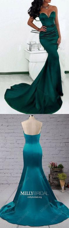 Long Prom Dresses For Teens,Dark Green Formal Evening Dresses Mermaid,Modest Military Ball Dresses Sweetheart,Sexy Wedding Party Dresses Strapless,Satin Pageant Graduation Dresses with Ruffles Dark Green Prom Dresses, Sparkly Prom Dresses, Simple Prom Dress, Formal Dresses For Teens, Elegant Prom Dresses, Long Prom Gowns, Beautiful Prom Dresses, Party Dresses, Ball Dresses