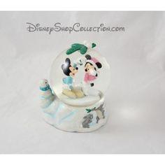 Snow globe Mickey Minnie DISNEY STORE gui lapin bonhomme de neige boule à neige 14 cm