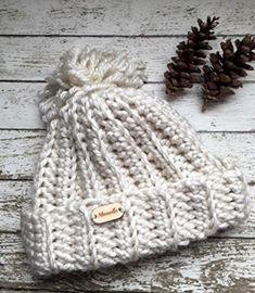 Olympics Handmade Slouchy Beanie Chunky Pom Pom Snowboard Hat Ribbed Beige  Cream Creme Chunky Crochet Textured Logo Wood Button Winter Hat 775916d6fd1b