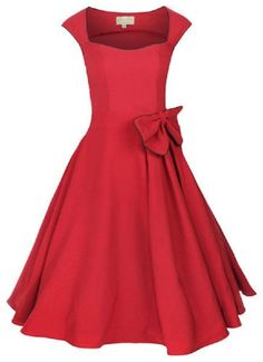 BESTSELLER! Lindy Bop 'Grace' Vintage 1950'S Rockabilly Style Bengaline Bow Swing Party Evening Dress $46.99