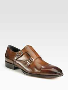 $398 To Boot New York - Langley Double Monk Strap - Saks.com